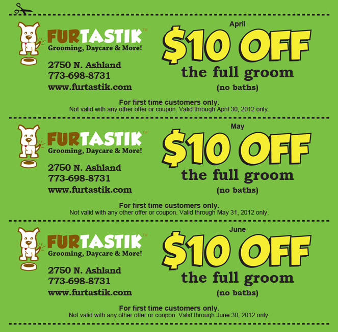 Dog grooming coupons